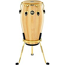 Marathon Exclusive Series Conga with Stand 11.75 in. Natural/Gold Tone Hardware