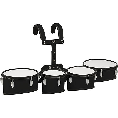 sound percussion labs marching tenor drum with carrier 8 in 10 in 12 in 13 in black guitar. Black Bedroom Furniture Sets. Home Design Ideas