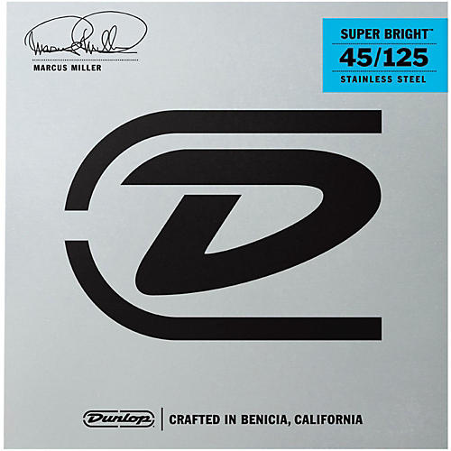 Dunlop Marcus Miller Super Bright 5-String Electric Bass Strings (45-105)