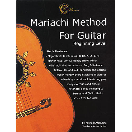 Mixta Publishing Co. Mariachi Method for Guitar (Book/CD) | Guitar ...