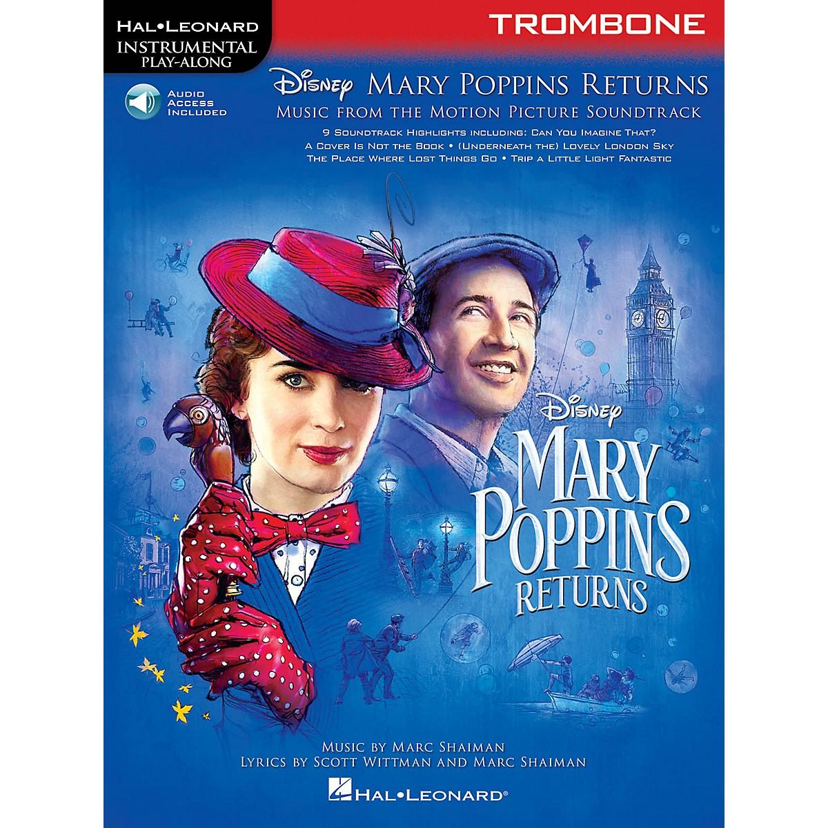 Hal Leonard Mary Poppins Returns for Trombone Instrumental Play-Along Book/Audio Online