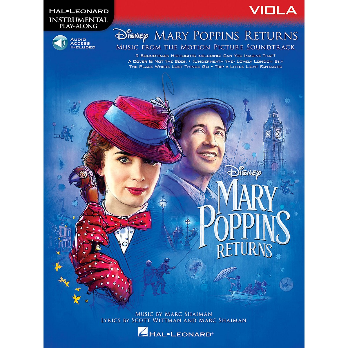 Hal Leonard Mary Poppins Returns for Viola Instrumental Play-Along Songbook Book/Audio Online