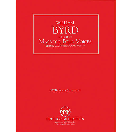 Lauren Keiser Music Publishing Mass for Four Voices SATB Composed by William Byrd