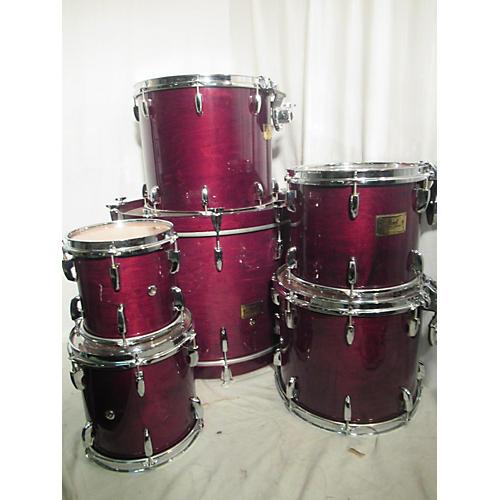 used pearl master custom drum kit trans red guitar center. Black Bedroom Furniture Sets. Home Design Ideas