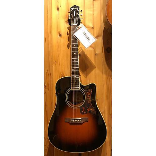 used epiphone masterbuilt dr 500mce acoustic electric guitar vintage sunburst guitar center. Black Bedroom Furniture Sets. Home Design Ideas