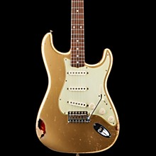 Masterbuilt Dennis Galuszka '60s Relic Stratocaster Brazilian Rosewood Neck Electric Guitar Aztec Gold over 3-Color Sunburst