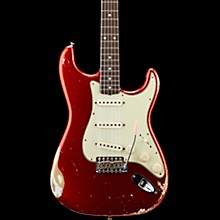 Masterbuilt Dennis Galuszka '60s Relic Stratocaster Brazilian Rosewood Neck Electric Guitar Candy Apple Red over Olympic White