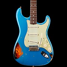Masterbuilt Dennis Galuszka '60s Relic Stratocaster Brazilian Rosewood Neck Electric Guitar Lake Placid Blue over 3-Color Sunburst