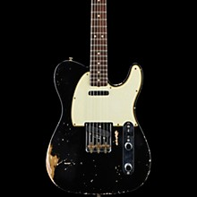 Masterbuilt Dennis Galuszka '60s Telecaster Relic Brazilian Rosewood Neck Electric Guitar Black over Aztec Gold