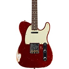 Masterbuilt Dennis Galuszka '60s Telecaster Relic Brazilian Rosewood Neck Electric Guitar Candy Apple Red over Aztec Gold