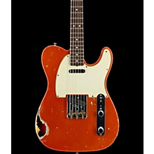 Masterbuilt Dennis Galuszka '60s Telecaster Relic Brazilian Rosewood Neck Electric Guitar Candy Tangerine over 3-Color Sunburst