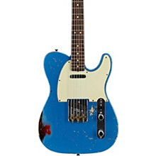Masterbuilt Dennis Galuszka '60s Telecaster Relic Brazilian Rosewood Neck Electric Guitar Lake Placid Blue over 3-Color Sunburst