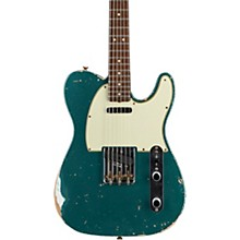 Masterbuilt Dennis Galuszka '60s Telecaster Relic Brazilian Rosewood Neck Electric Guitar Sherwood Green over Olympic White