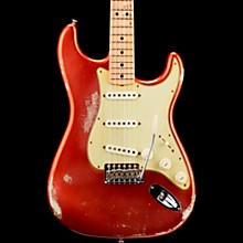 Masterbuilt Greg Fessler 1969 Stratocaster Relic Maple Fingerboard Electric Guitar Faded Aged Candy Apple Red