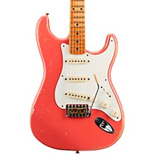 Masterbuilt Todd Krause '56 Active Stratocaster Journeyman Relic Maple Fingerboard Electric Guitar Faded Aged Fiesta Red