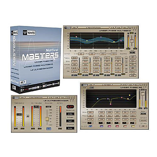 Waves Masters Native Plug-In Bundle Hybrid Software CD Win/Mac