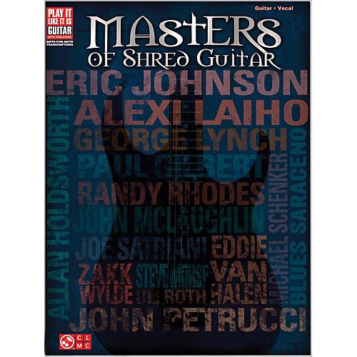 Cherry Lane Masters Of Shred Guitar  Guitar Tab Songbook