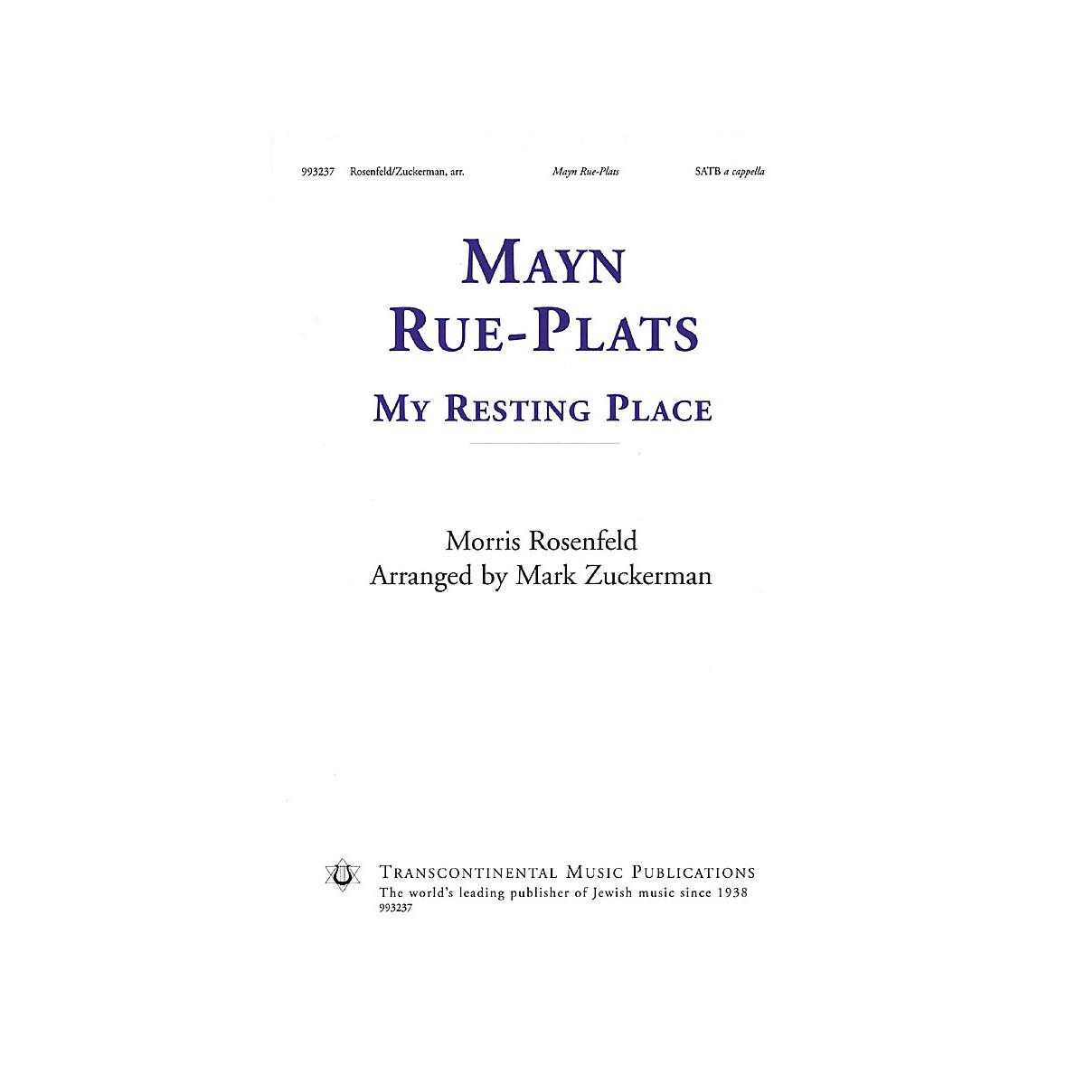 Transcontinental Music Mayn Rue-Plats (My Resting Place) SATB a cappella arranged by Mark Zuckerman