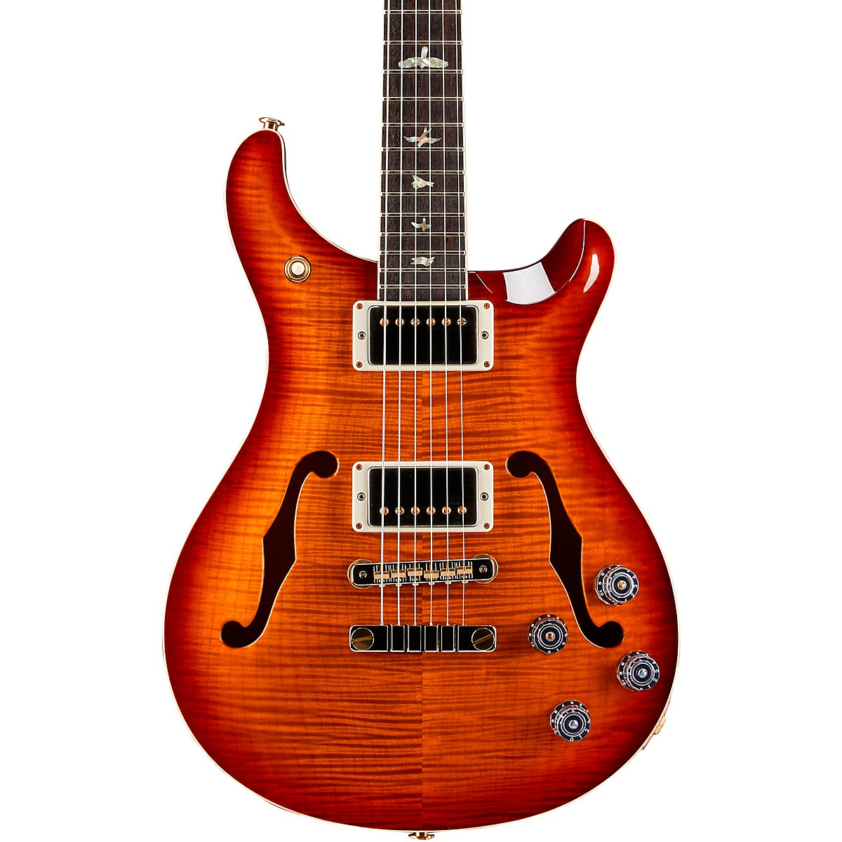 PRS McCarty 594 Hollowbody II 10-Top and Back with Pattern Neck Electric Guitar