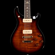 McCarty 594 Soapbar Carved Flame Maple 10-Top Electric Guitar Black Gold Burst