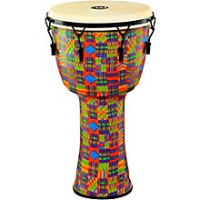 Mechanically Tuned Djembe with Synthetic Shell and Goat Skin Head 14 in. Kenyan Quilt