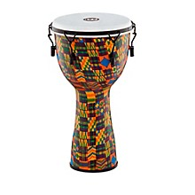 Mechanically Tuned Fiberglass Synthetic Head Djembe Kenyan Quilt 12 in.