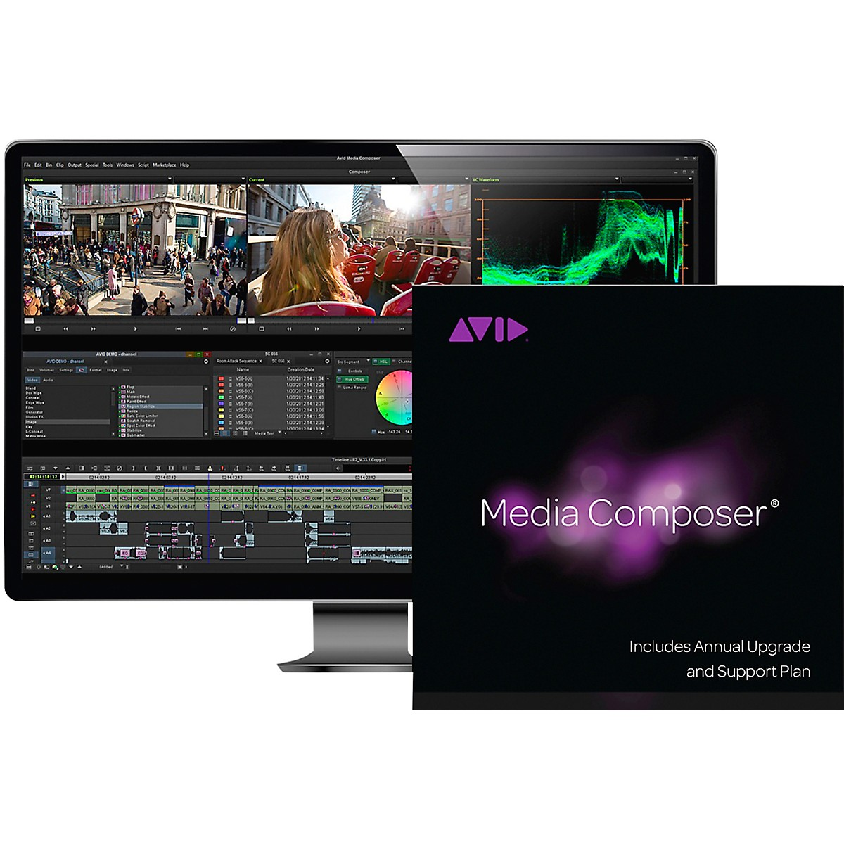 Avid Media Composer Perpetual + 1-Year Updates/Support (Download)