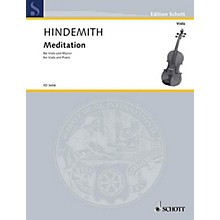 Schott Meditation from Nobilissima Visione (Viola and Piano) Schott Series