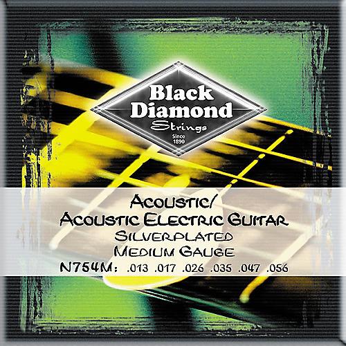 Black Diamond Medium Gauge Silver-Plated Acoustic-Electric Guitar Strings
