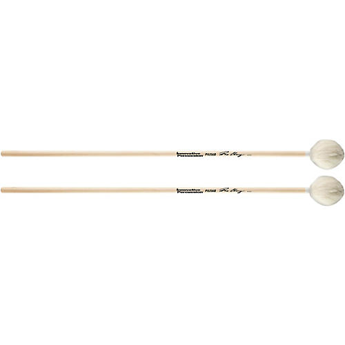 Innovative Percussion Medium Hard Marimba Mallets with Birch Handles and White Yarn