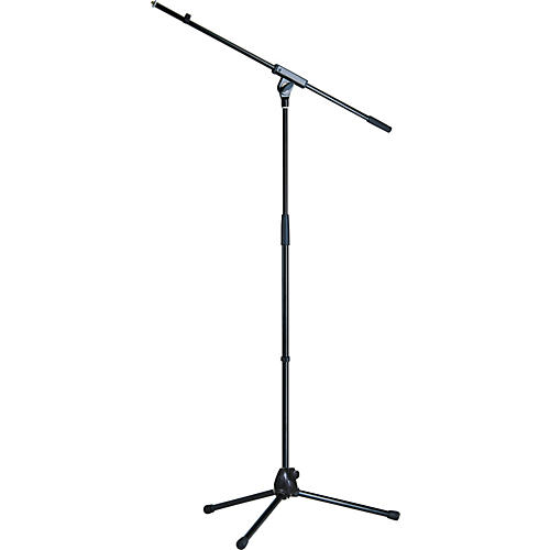 K&M Medium Weight Tripod Microphone Stand with Fixed Length Boom Arm