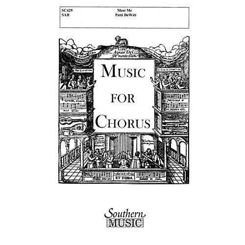 Hal Leonard Meet Me (Choral Music/Octavo Secular Sab) SAB Composed by Dewitt, Patti