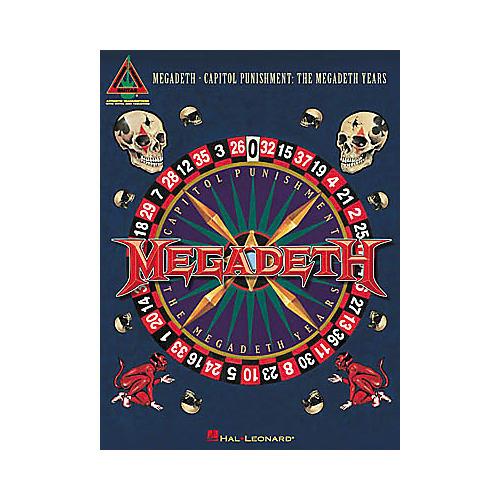 Hal Leonard Megadeth - Capitol Punishment The Megadeth Years Guitar Tab Book