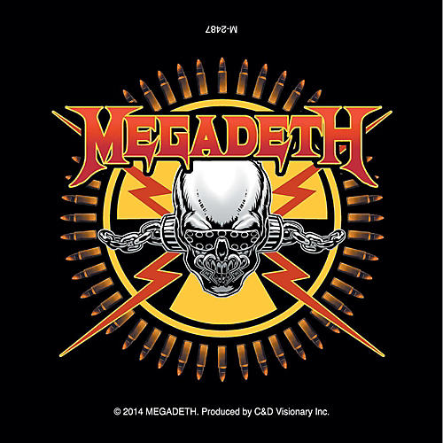 C&D Visionary Megadeth Magnet - Skull & Bullets