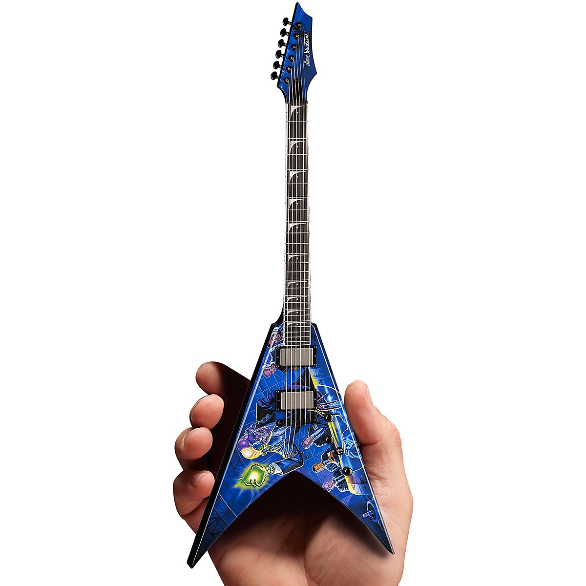 Iconic Concepts Megadeth Rust In Peace Licensed Mini Guitar Replica