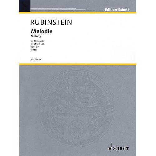 Schott Music Melodie for String Trio Op. 3, No. 1 String Composed by Anton Rubinstein Arranged by Wolfgang Birtel