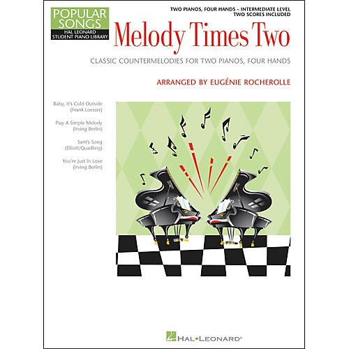 Hal Leonard Melody Times Two - 2 Piano, 4 Hands Intermediate Level Hal Leonard Student Piano Library by Rocherolle
