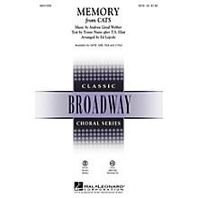Hal Leonard Memory (from Cats) SATB arranged by Ed Lojeski