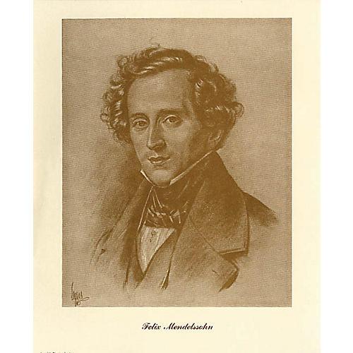 Music Sales Mendelssohn (Lupas Large Portrait Poster) Music Sales America Series