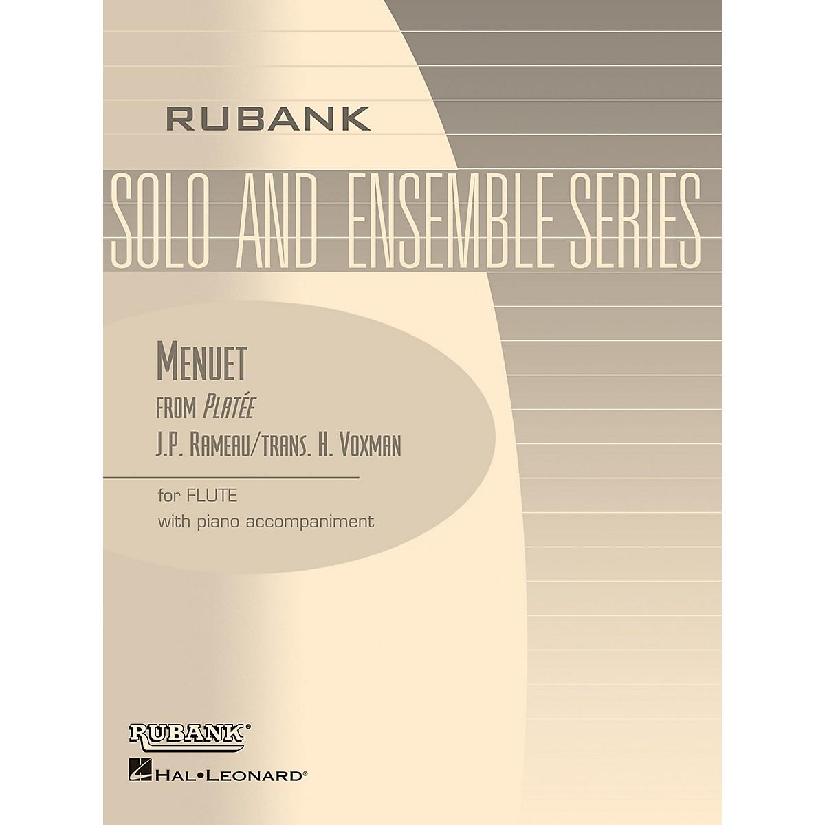 Rubank Publications Menuet from Platee (Flute Solo with Piano - Grade 2.5) Rubank Solo/Ensemble Sheet Series
