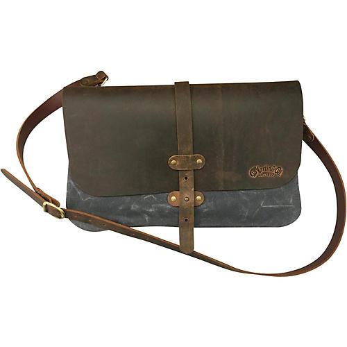 Martin Messenger Bag 3 Panel Canvas Leather