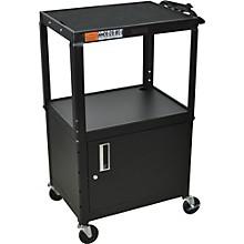 "H. Wilson Metal 26"" to 42"" 3 Shelf Cart/Cabinet"