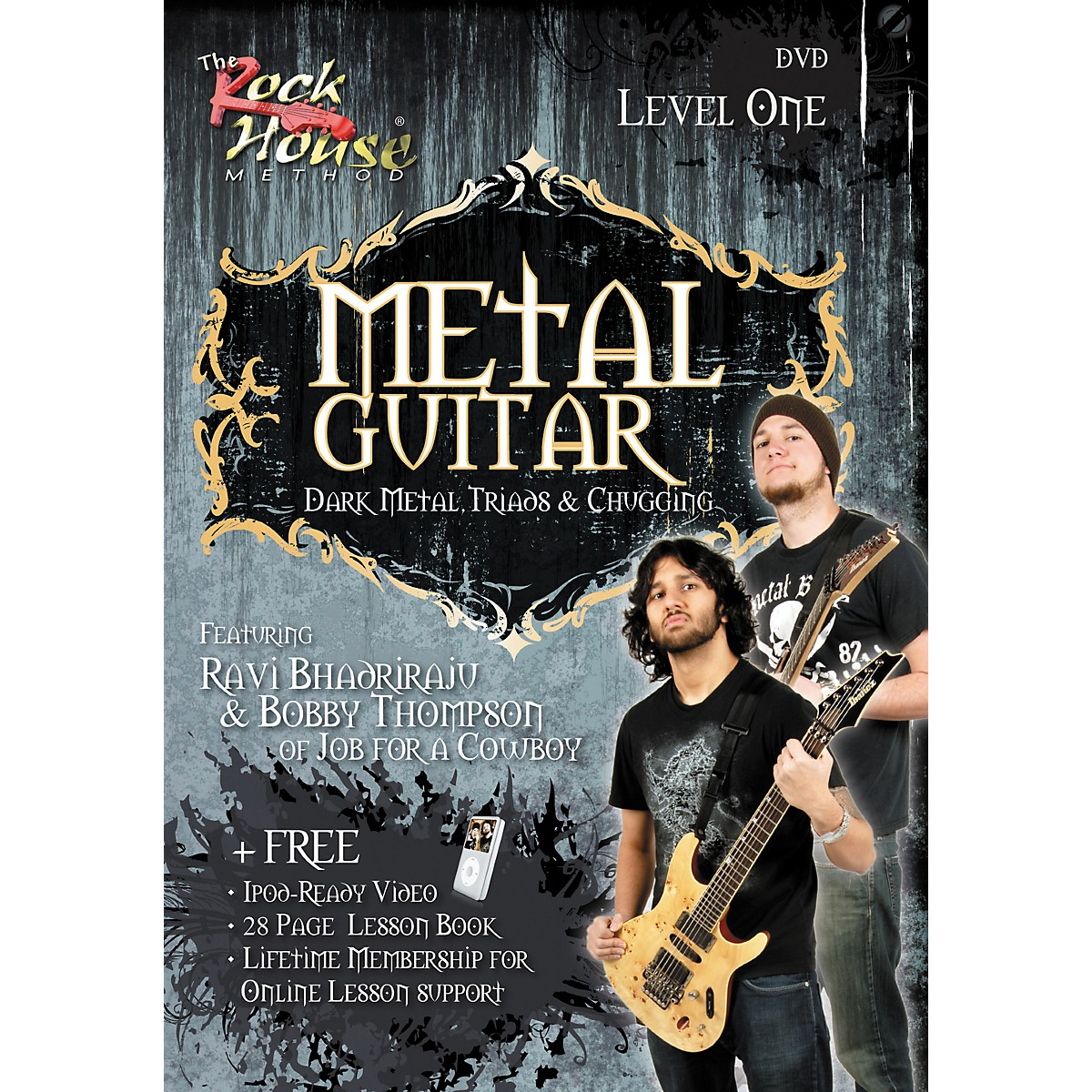 Hal Leonard Metal Guitar - Dark Metal, Triads & Chugging Level 1, Featuring Ravi Bhadriraju and Bobby Thompson (DVD)