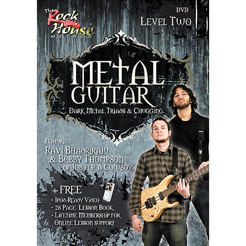 Hal Leonard Metal Guitar- Dark Metal, Triads & Chugging Level 2, Featuring Ravi Bhadriraju and Bobby Thompson (DVD)