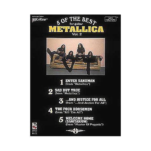 Cherry Lane Metallica - 5 of the Best for Guitar Volume 2 Book