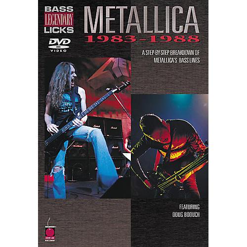 Cherry Lane Metallica - Bass Legendary Licks 1983-1988 (DVD)