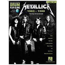 Hal Leonard Metallica: 1983-1988 Drum Play-Along Volume 47 Book/Audio Online