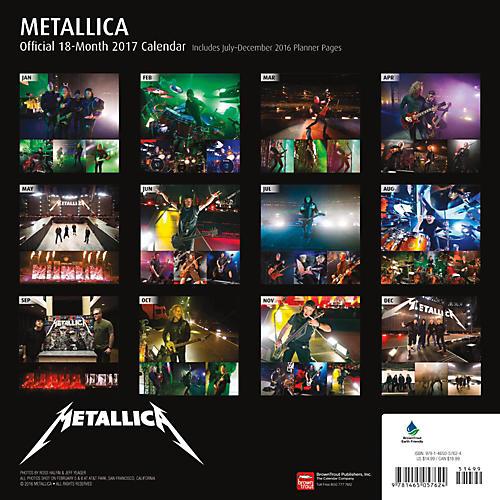 Browntrout Publishing Metallica 2017 Calendar