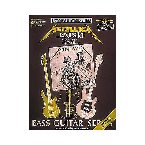 Hal Leonard Metallica...And Justice for All Bass Guitar Tab Book