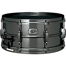 TAMA Metalworks Nickel-Plated Black Steel Snare Drum
